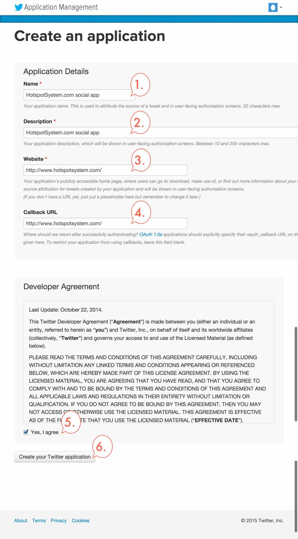 Create your own twitter app hotspotsystem help desk twitter app step2 ccuart Images